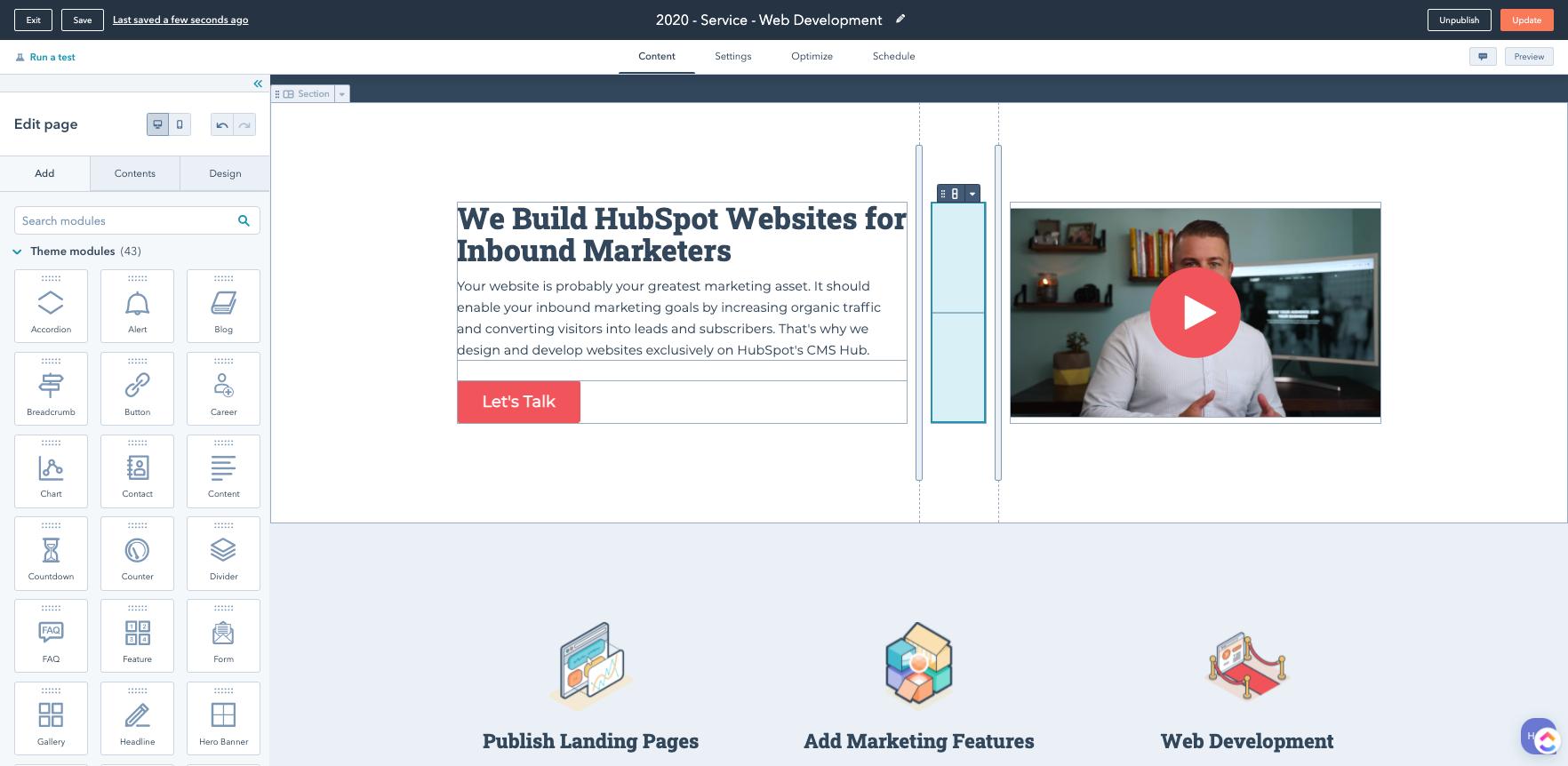 HubSpot CMS Hub - HubSpot Website Development - The Gist - Product Screenshot